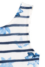 Jersey dress - White/Dark blue/Striped - Kids | H&M CN 3